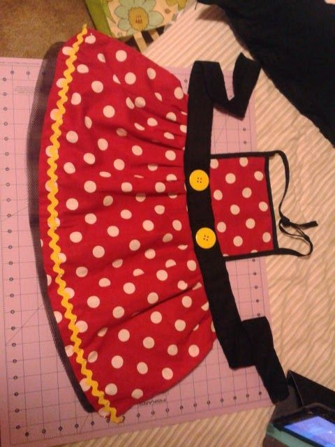 minnie mouse apron idea | Mickey Mouse/Disney | Pinterest | Nähen ...