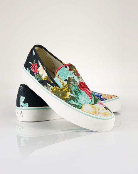 Floral Mytton Slip-On Sneaker - Polo Ralph Lauren Sneakers - RalphLauren.com 75935c22971