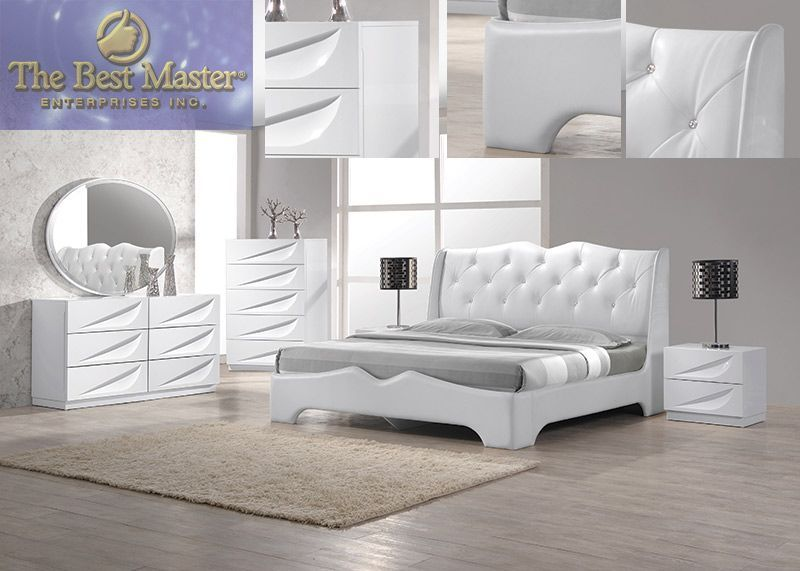 contemporary bedroom sets king. modern pieces madrid white lacquer king bedroom set furniture sets further
