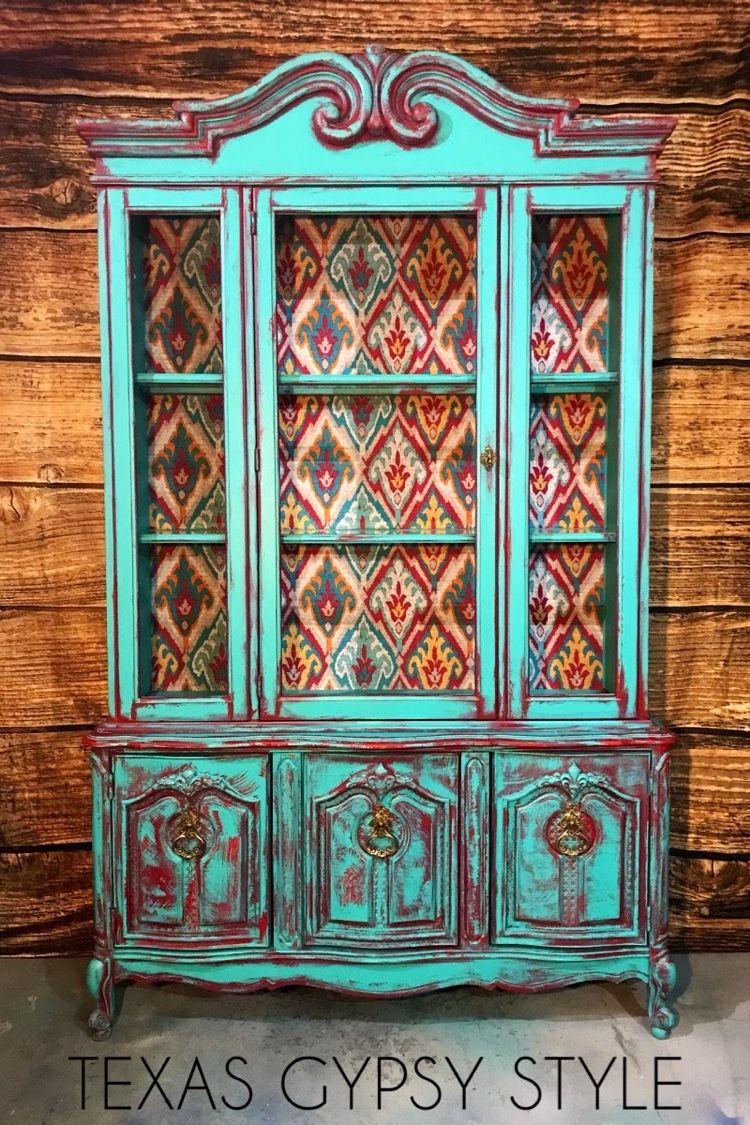 Painted Chinacabinet Boho Style