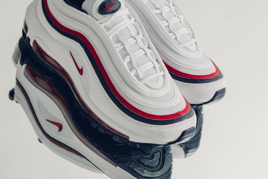 Permeabilidad Parpadeo período  Nike Air Max 97 White Red Blue 921733-102 - Sneaker Bar Detroit | Nike air  max, Air max, Nike air max 97