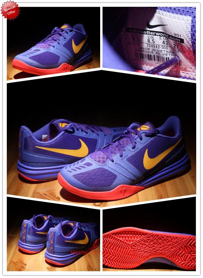 best website 306e5 18a7b Best Cheap Nike Zoom Kobe Mentality 704942-500 Purple   yellow   red Mens  G4VG18