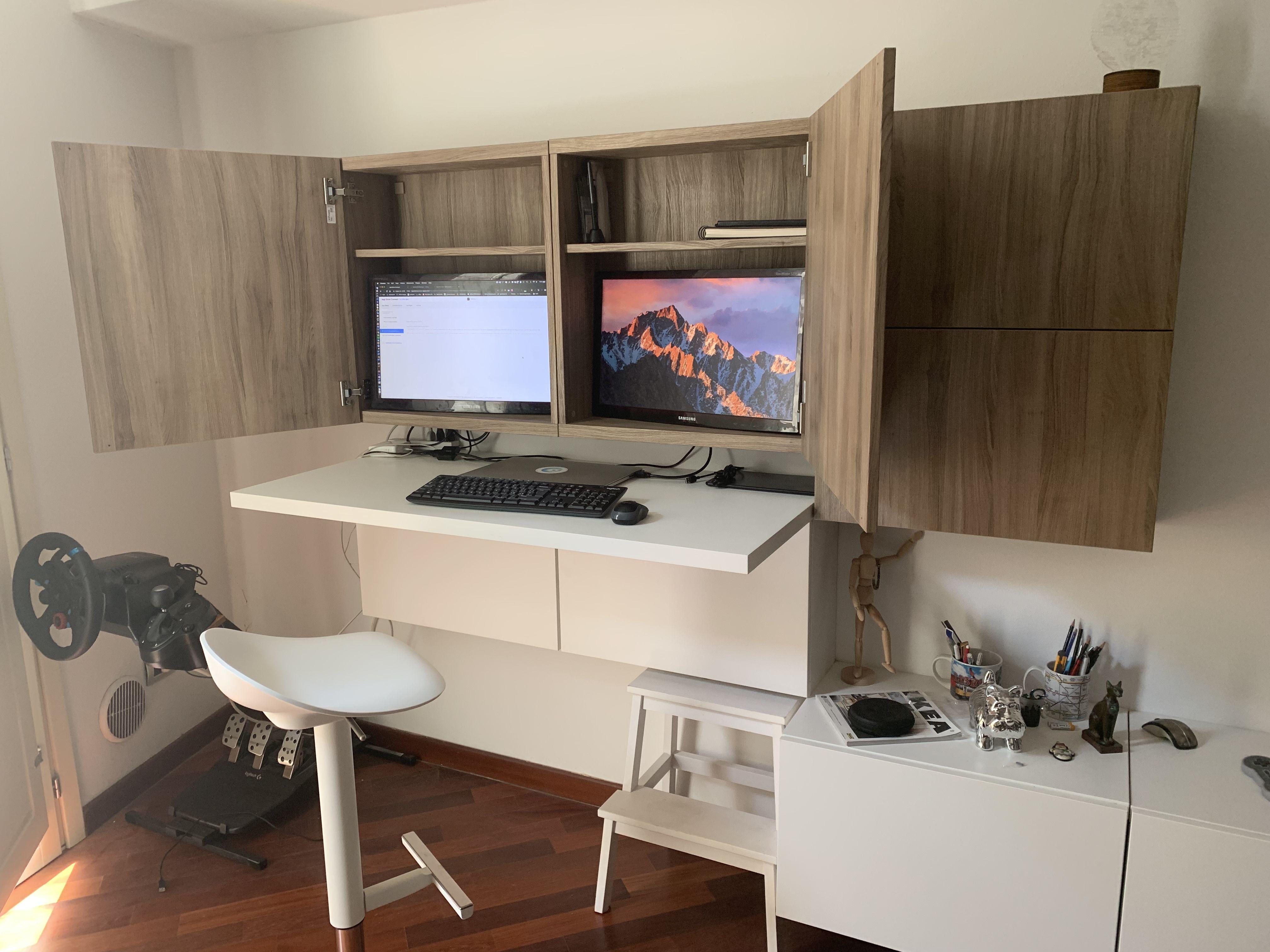 27+ Hidden desk cabinet ikea ideas