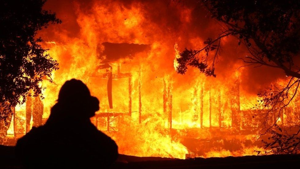 Us Wildfire Sparked Minutes After Power Glitch California Wildfires Fire Photo