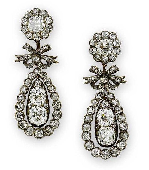 Earrings from the Regency era