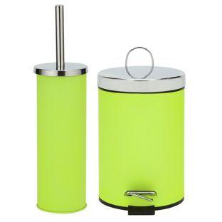 Buy Colourmatch Slow Close Bin And Brush Set Apple Green At Argos Co Uk Visit Argos Co Uk To Shop Online For Bat Bathroom Sets Bathroom Accessories Bathroom