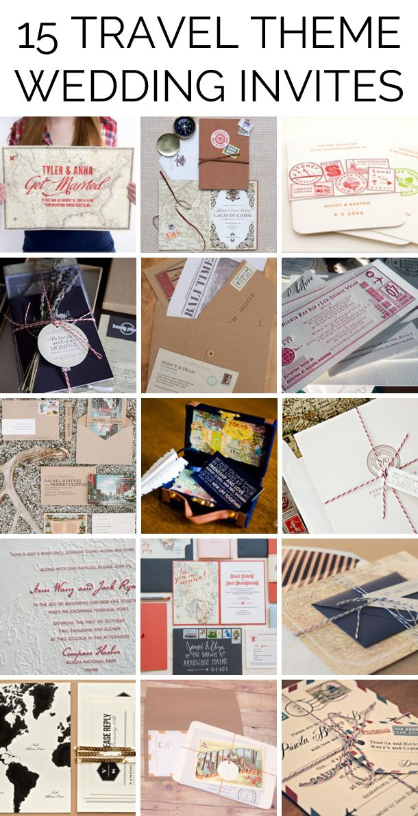 Travel Themed Wedding Invitations | Travel themed weddings, Themed ...