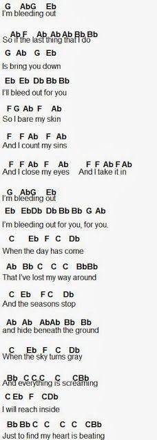 Flute Sheet Music Bleeding Out Flute Sheet Music Imagine Dragons Lyrics Imagine Dragons