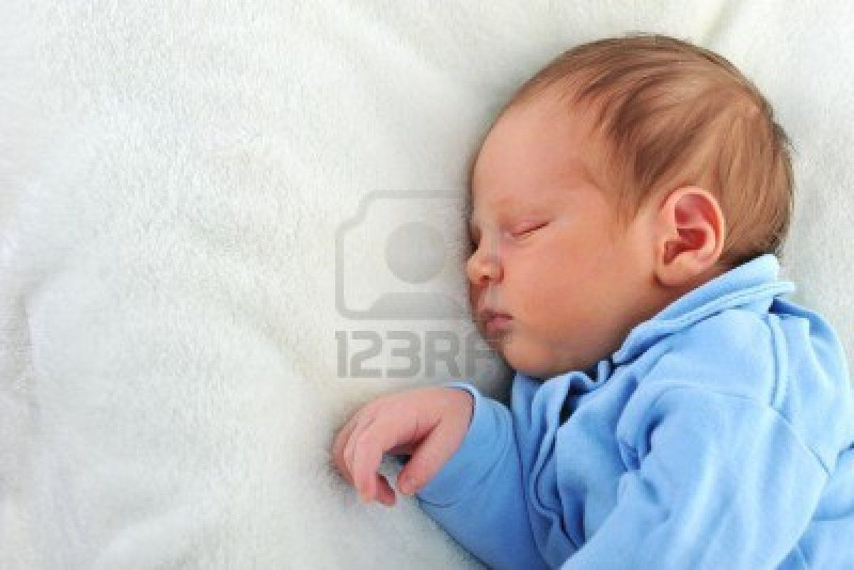 cute newborn baby boy Newborn Cute Baby Sleeping White Blanket