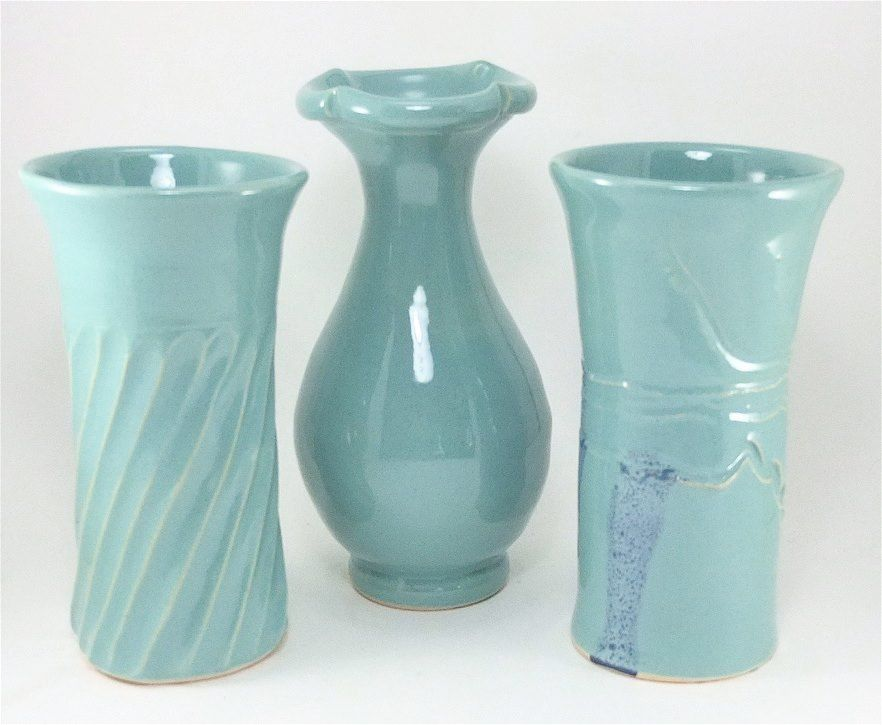 celadon vases by Gary Rith