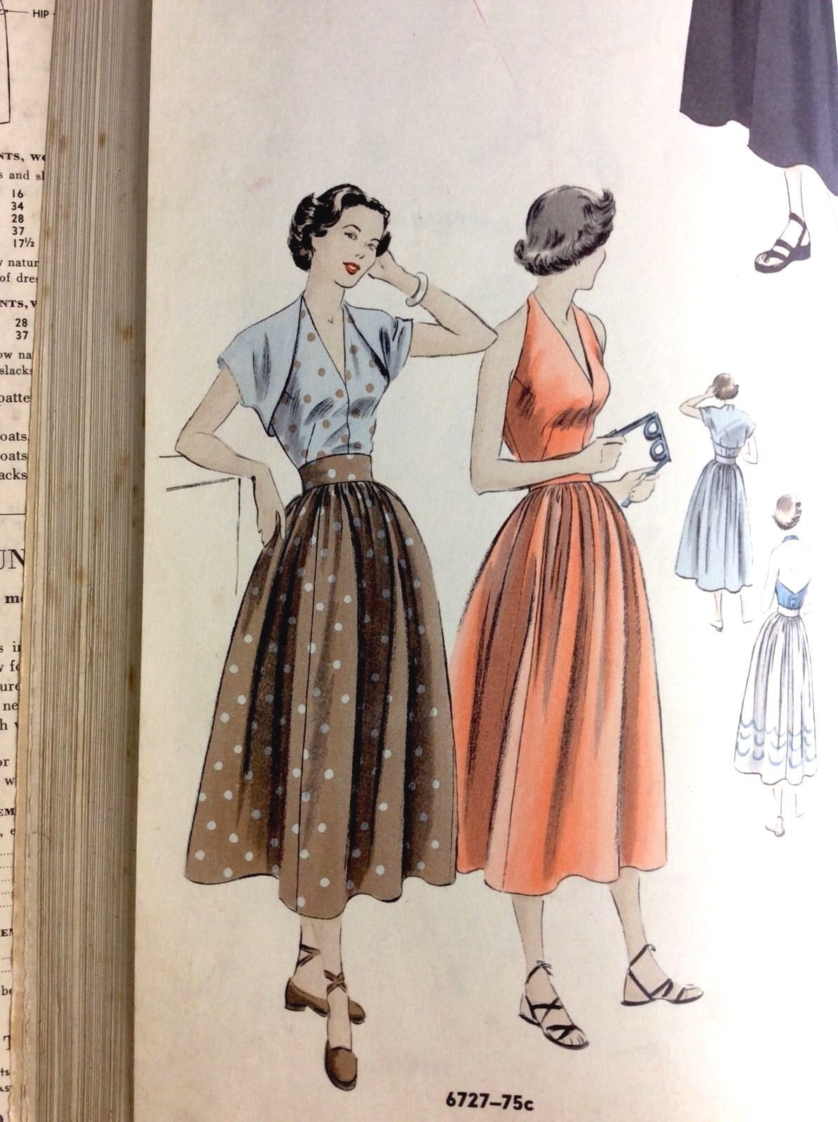 Vtg Vogue Sewing Pattern Counter Catalog Feb 1950 Hardcover Bound ...