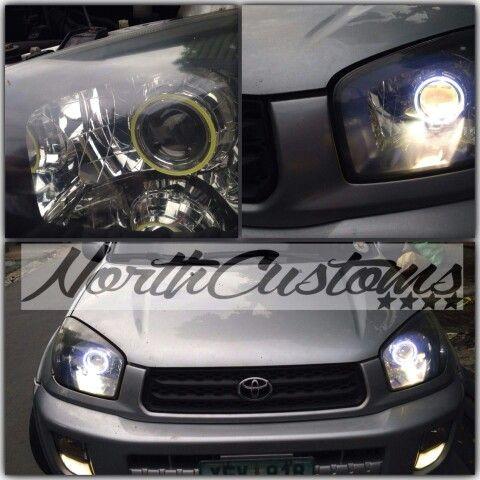 Rav4 2001 2002 Headlight Projector Retrofit And Angel Eyes By North Customs Philippines