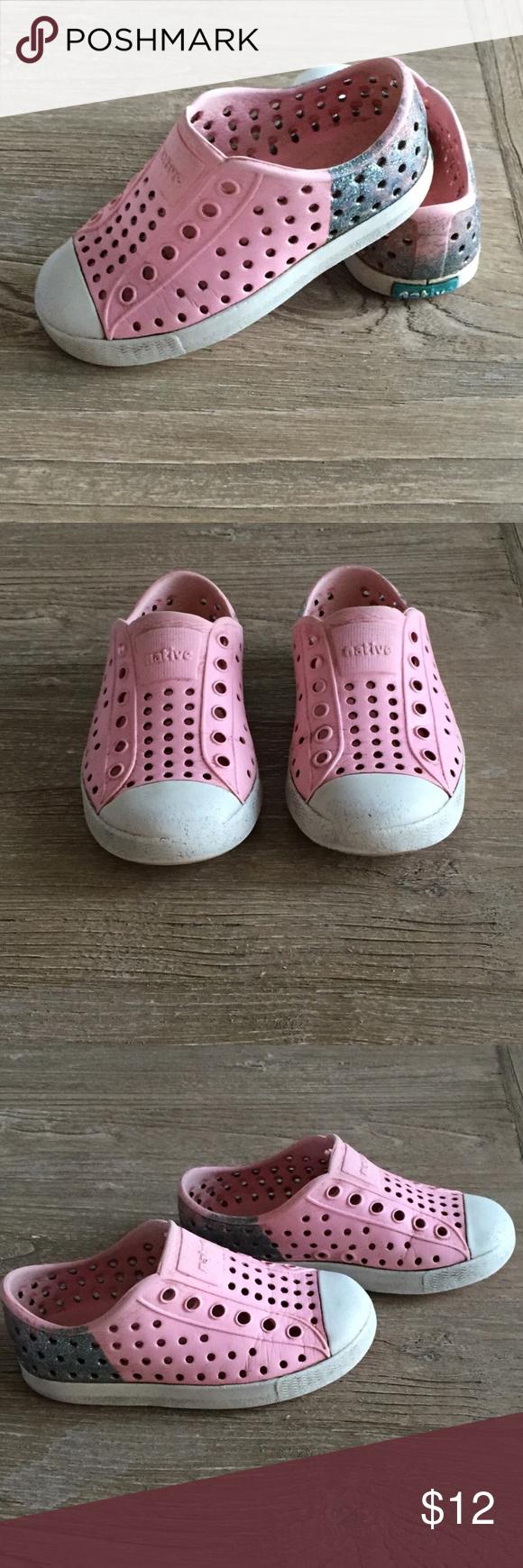 Natives Pink/Glitter Jefferson Shoes C7