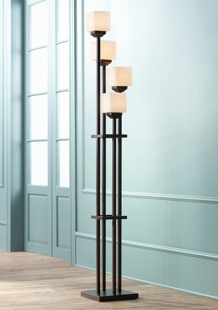 huge discount 663f2 a7df3 Universal Lighting and Decor Torchiere Floor Lamp with 4 ...