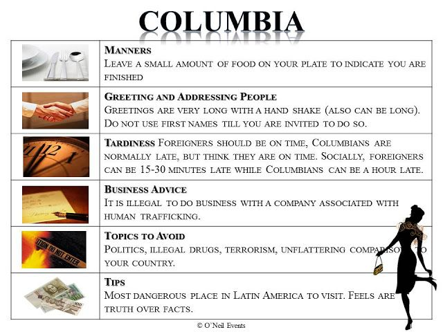 My Fair Manners travels to Columbia