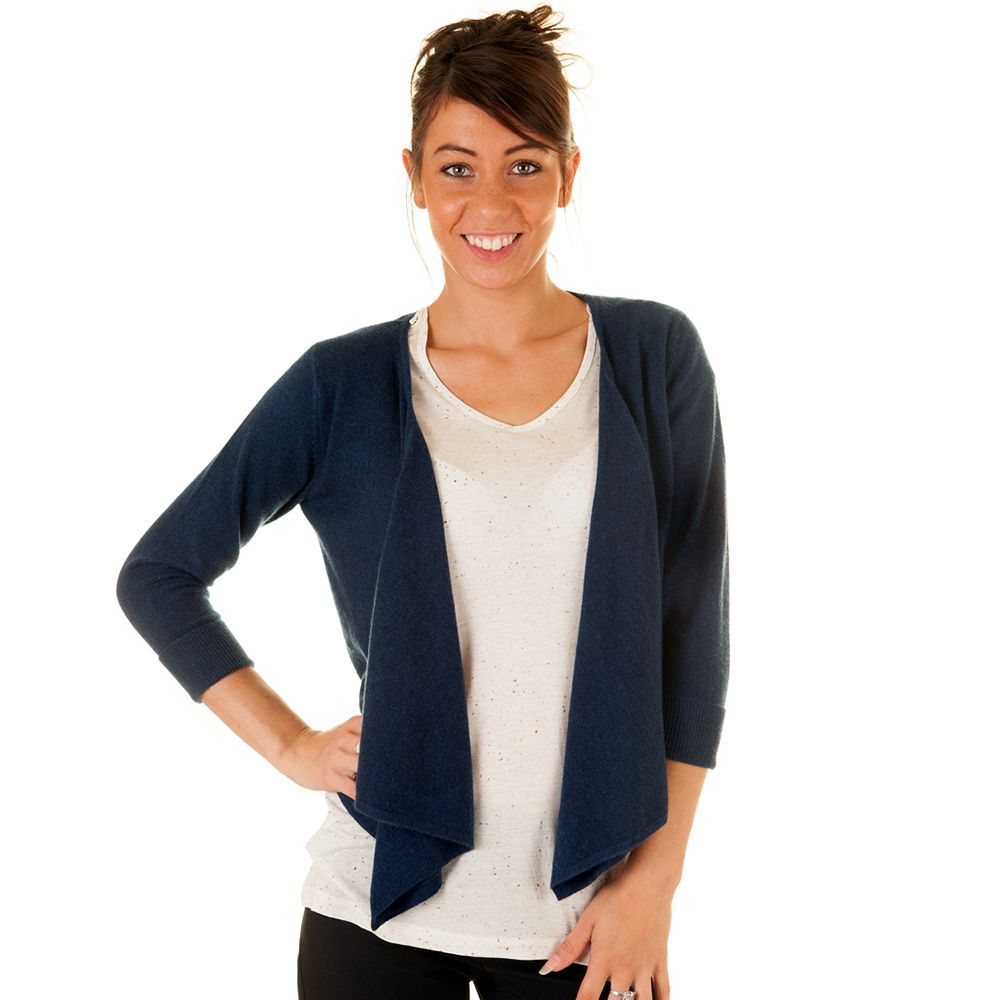 Ladies Navy Cashmere Waterfall Drape Cardigan £99.00 | Cashmere ...