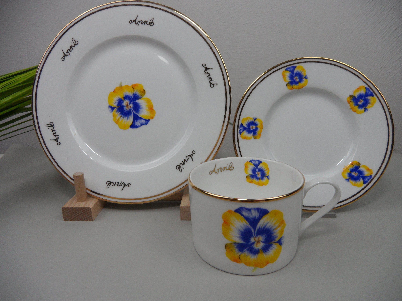 3-TEILIGES KAFFEEGEDECK HUTSCHENREUTHER ROSÉ