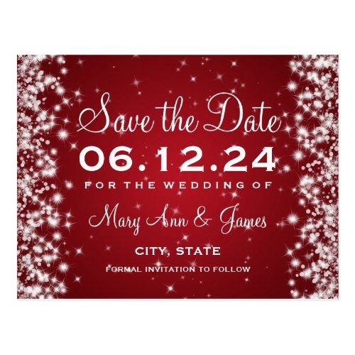 Winter Wedding Save the Date Cards Elegant Save The Date Winter