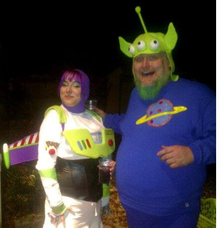 buzz lightyear and squeaky alien costume for halloween craftsterorg - Toy Story Alien Halloween Costume