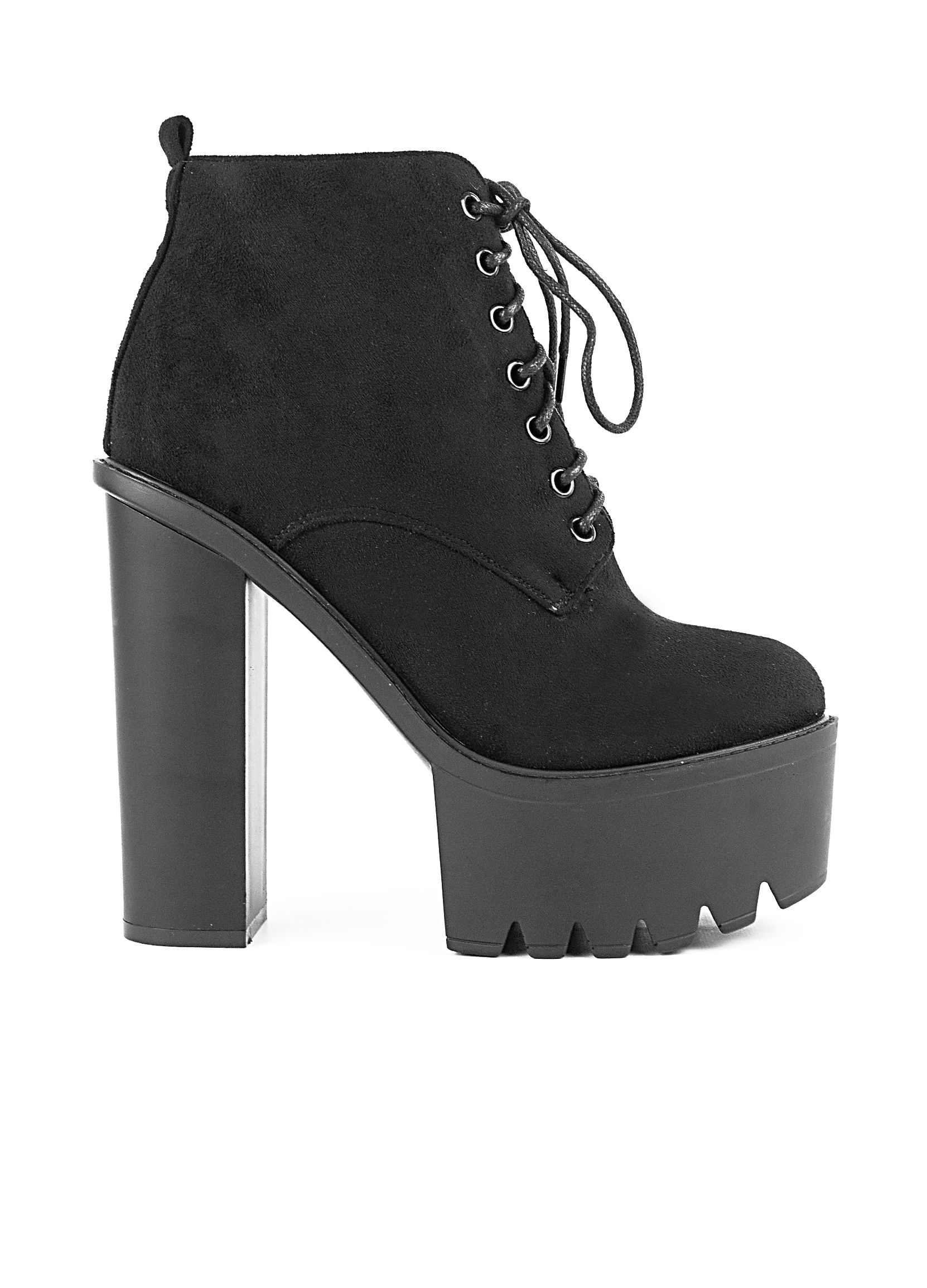 255f85e74c6 Μποτάκια Tracksole Suede-Μαύρο - ΓΥΝΑΙΚΕΙΑ ΠΑΠΟΥΤΣΙΑ - LUIGI FOOTWEAR