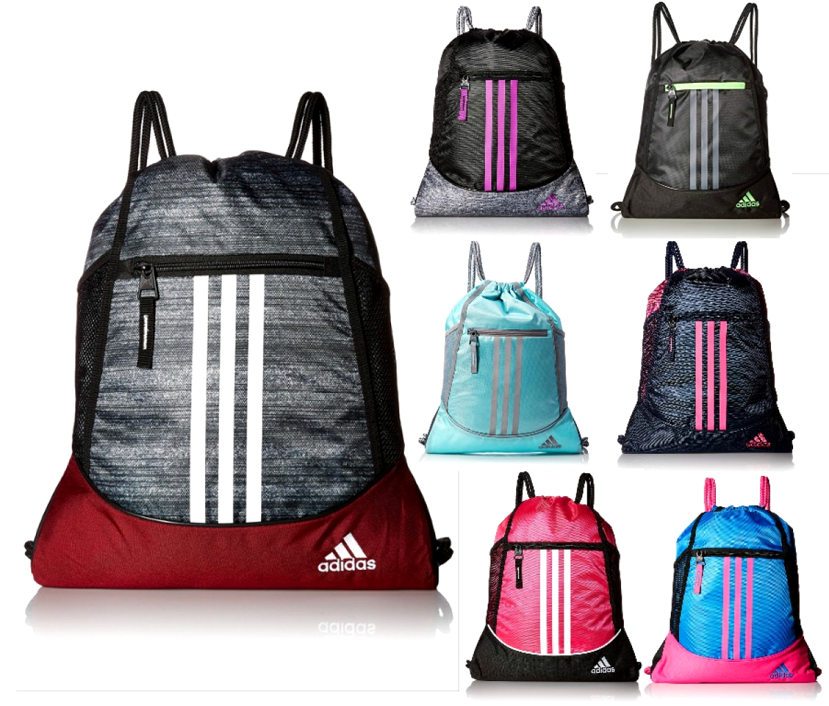 ba66b87872 Details about adidas Alliance Sack Pack Drawstring Gym Bags Unisex ...