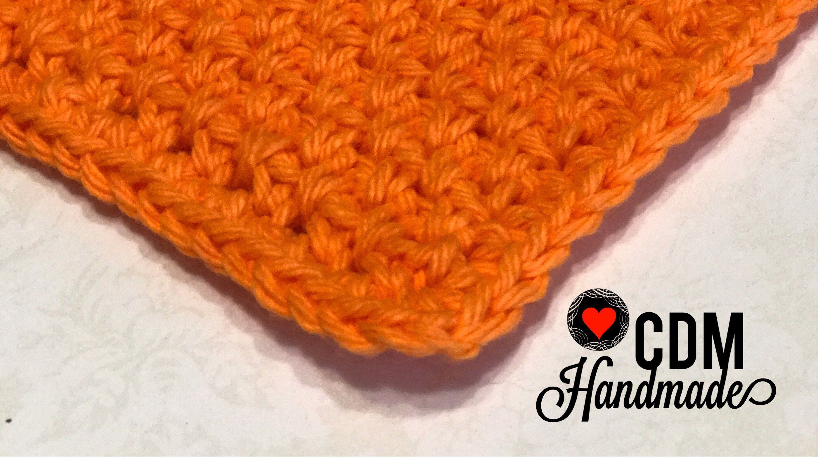 Washcloth Series: Moss Stitch Crochet Washcloth | Crochet ...