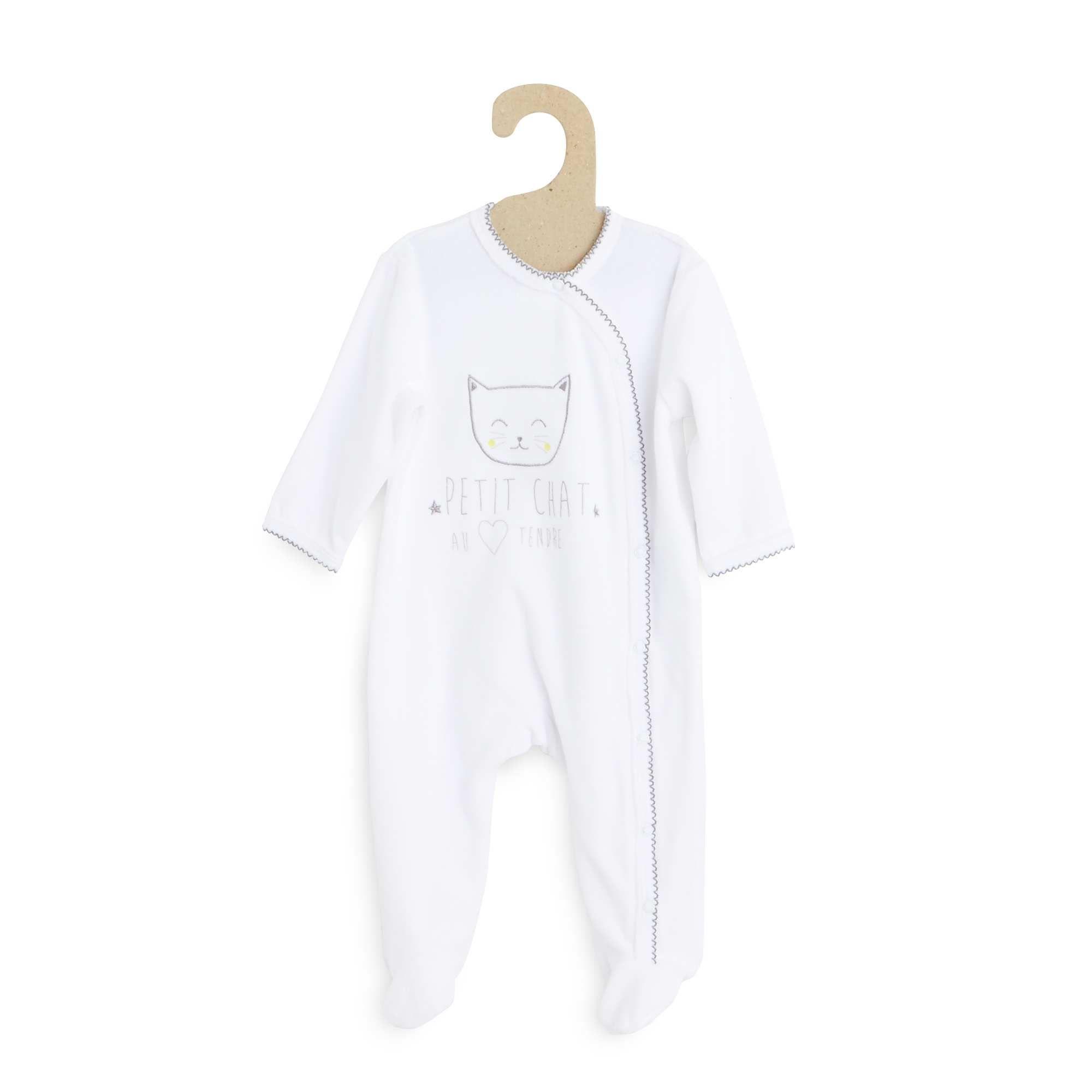 1079e5371a906 Embroidered velour pyjamas Girls 0 to 18 months - Kiabi - 10