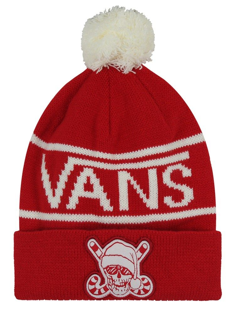 b55c6aec09c3 Vans Holiday Pom Beanie Racing Red