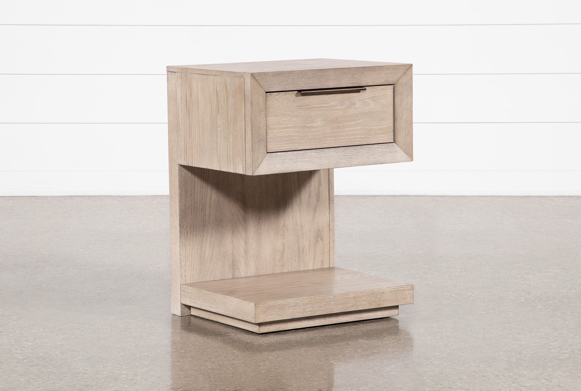 Pierce Natural 1 Drawer Nightstand With Usb Port And Power Outlets