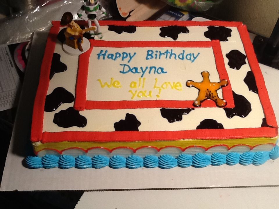 Fabulous Dq Cakes Dairy Queen Toy Story With Images Toy Story Cakes Personalised Birthday Cards Epsylily Jamesorg