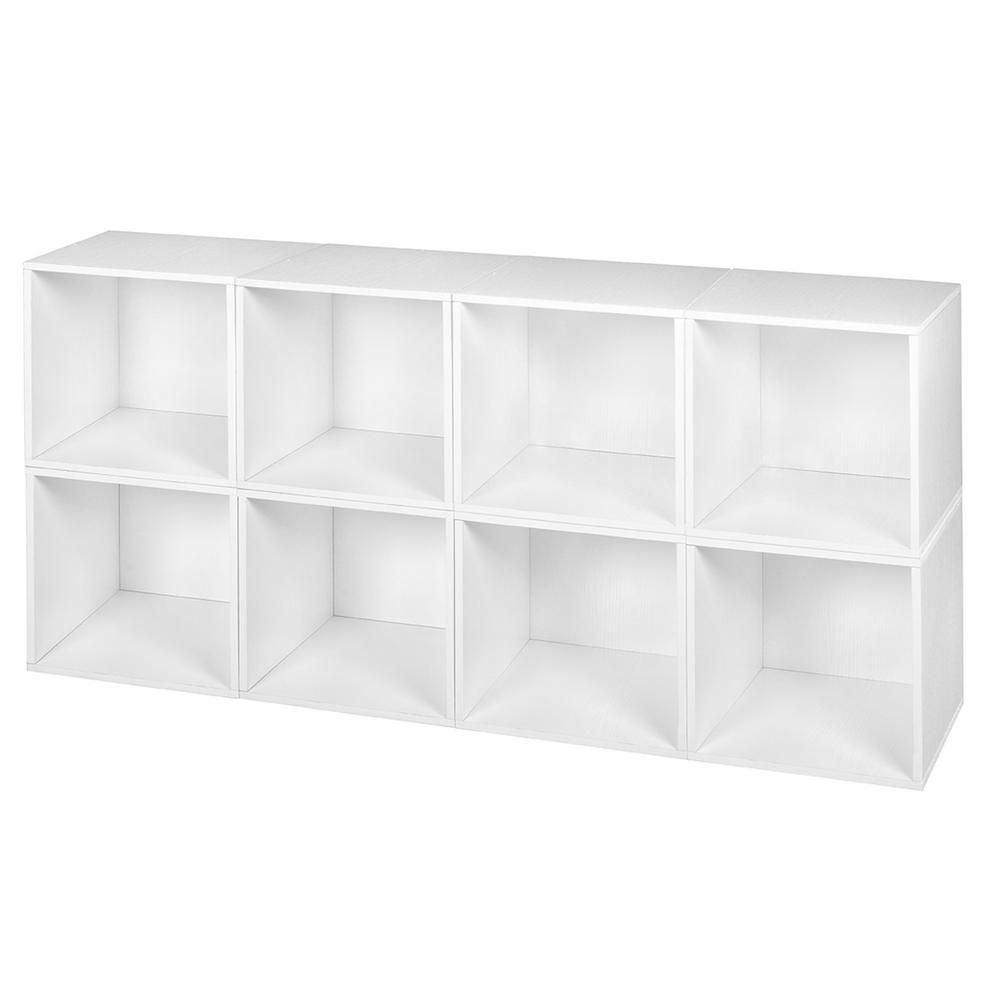 Niche 26 In H X 52 In W X 13 In D Truffle Wood 8 Cube Storage Organizer Pc8pktf The Home Depot Cube Storage White Storage Cube Storage Unit