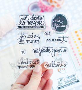 Set de sellos acrilicos Mil gracias