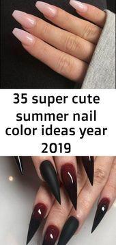 35 super leuke zomer nagel kleurideeën jaar 2019