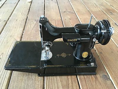 Vintage 40 Singer 40 Featherweight Sewing Machine 40 V USA Interesting 1947 Singer Featherweight Sewing Machine
