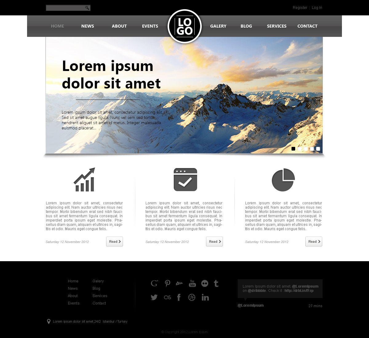 template1 30 Free PSD Web Design Templates | Design Source ...