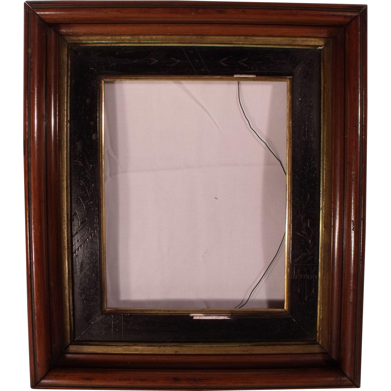 Antique victorian deep shadow box picture frame with carved panel antique victorian deep shadow box picture frame with carved panel jeuxipadfo Image collections