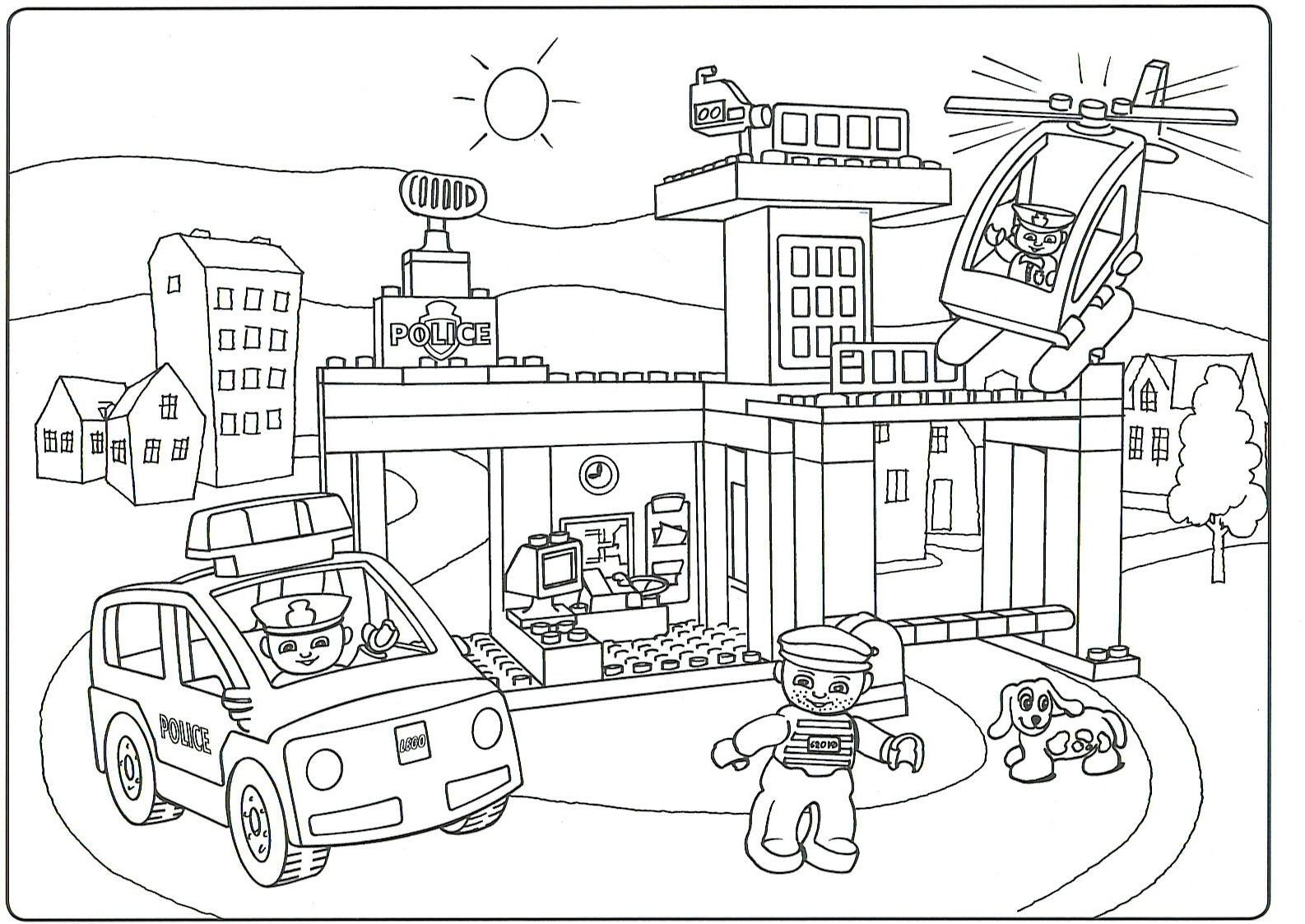 Lego City Police Coloring Pages Gallery
