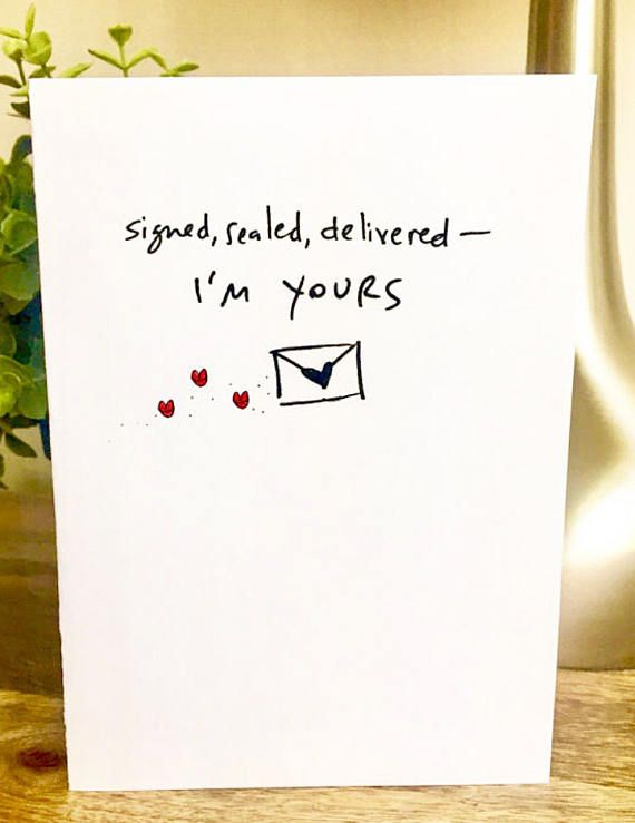 Signed Sealed Delivered I Yours Personalized Card One Year
