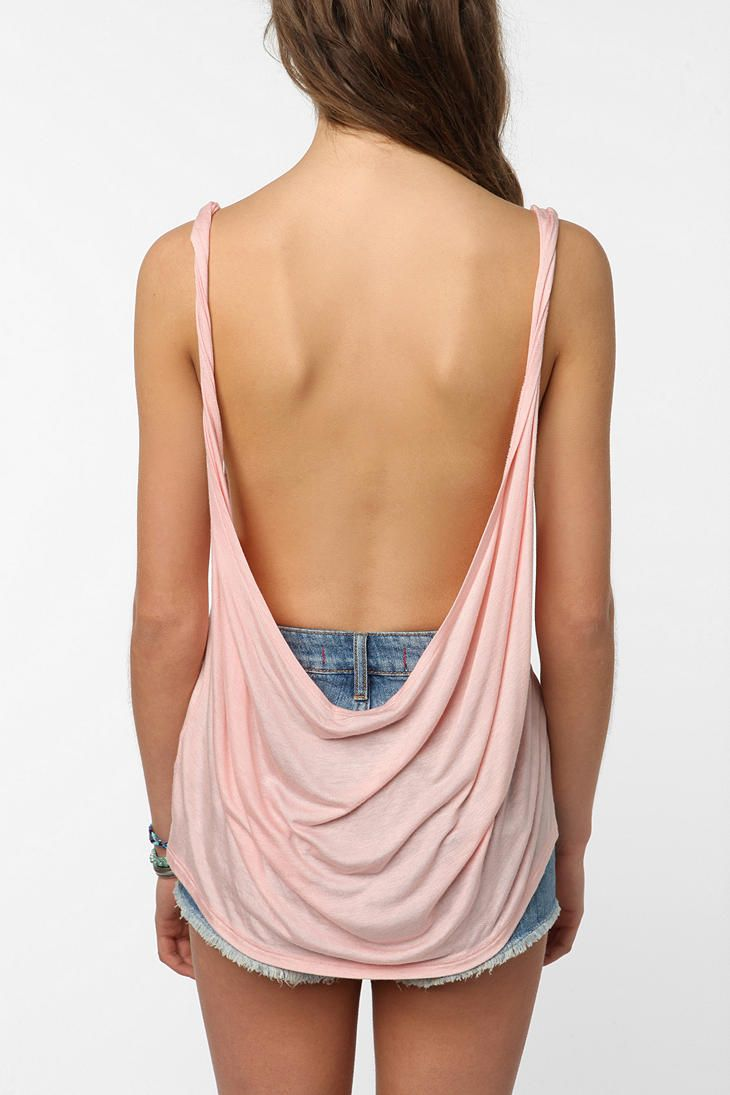 25ee34fbf7 Daydreamer LA Twisted Low Back Tank Top Online Only - Urban Outftter  19.99