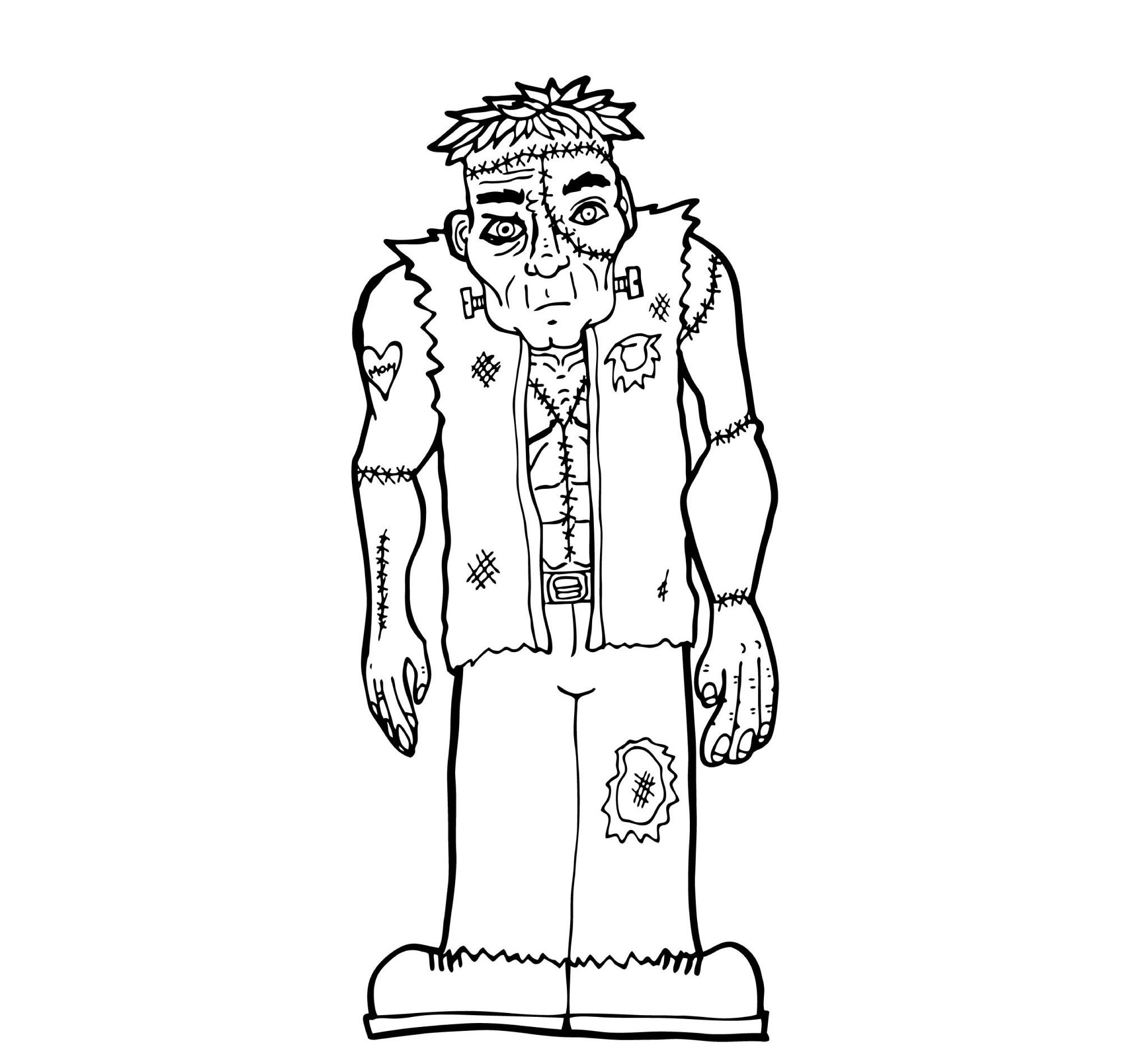 Frankenstein S Monsters Coloring Pages For Kids Cz3 Printable Monsters Coloring Pages For Kids