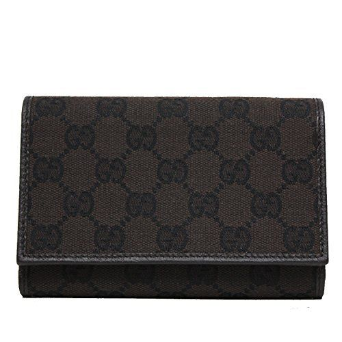 45cc6252d86  Gucci  GG Canvas and Leather Women s Trifold  Wallet 263114 Full review at