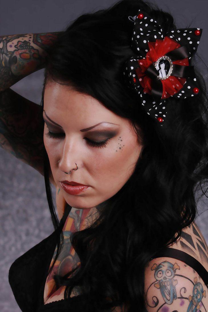 High up nose piercing  Model Brix Nobody Hair Fascinator Ruffles u Stripes  Tattoo World