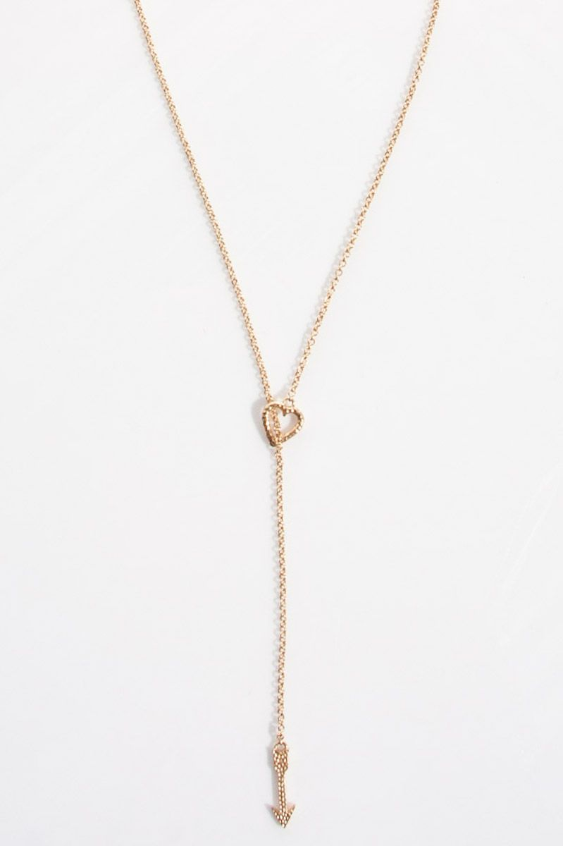 "gamesinfomation.com ""28.5″"" Heart Arrow Necklace in Gold"" coupon