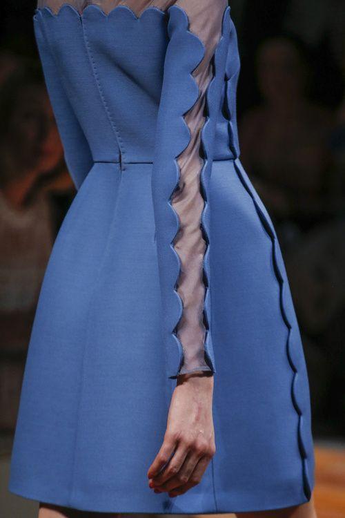 Valentino blue scalloped sleeve