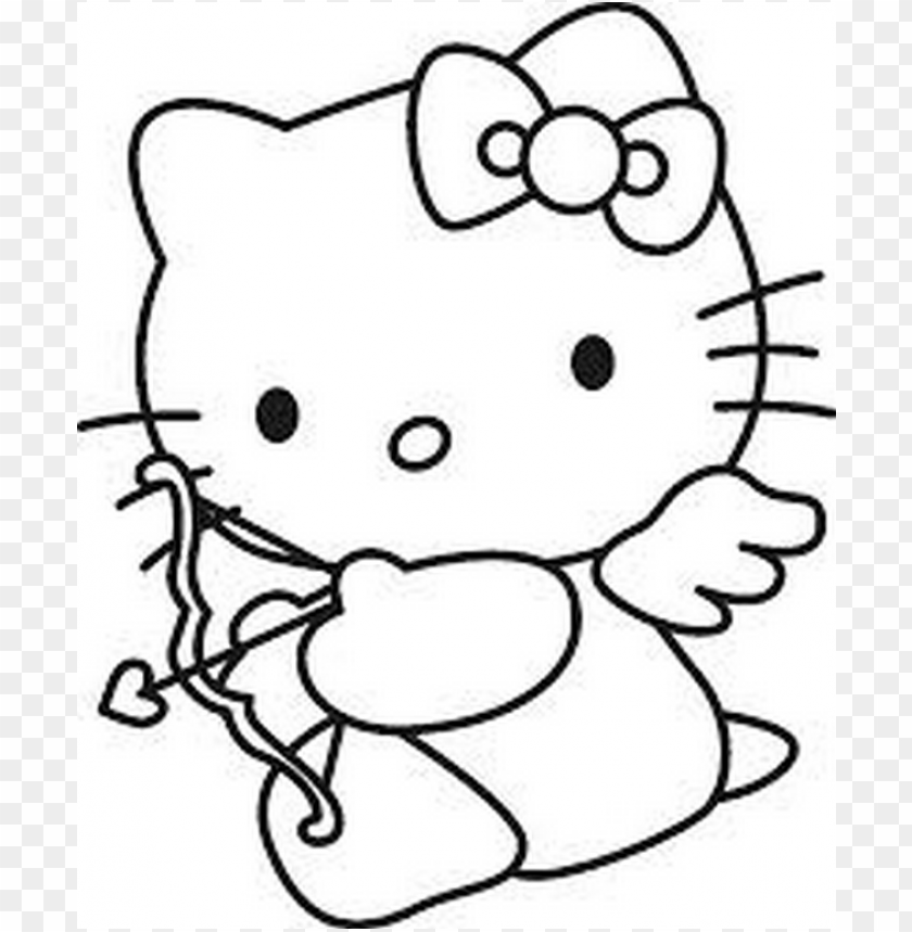 Bosquejos Para Dibujar Hello Kitty Png Image With Transparent Background Png Free Png Images Hello Kitty Colouring Pages Kitty Coloring Hello Kitty Coloring