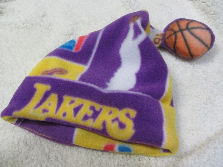 30ddf21cfa Lakers Fleece Christmas Santa Hat - Adult Size.  10.00