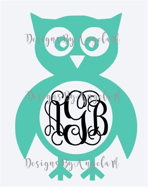 Download Image result for Free SVG Files Cricut Owl Monogram ...