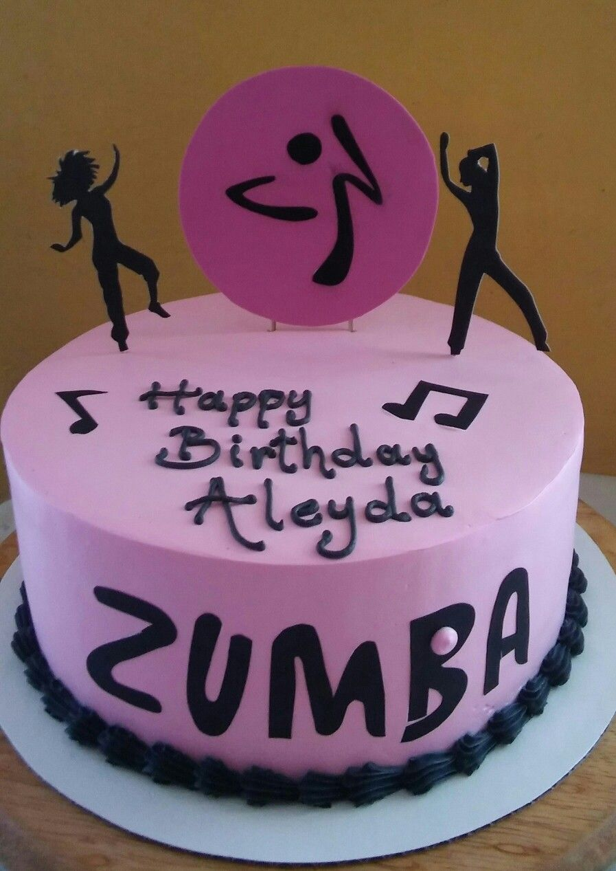 Zumba Birthday Cake Decoration Mis Creaciones Pinterest