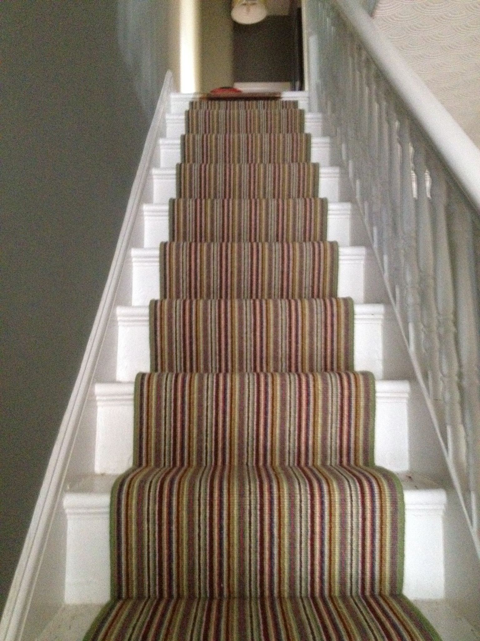 Hallway stair carpet ideas  Crucial Trading Mississippi Stripe Carpet  Stairs  Pinterest