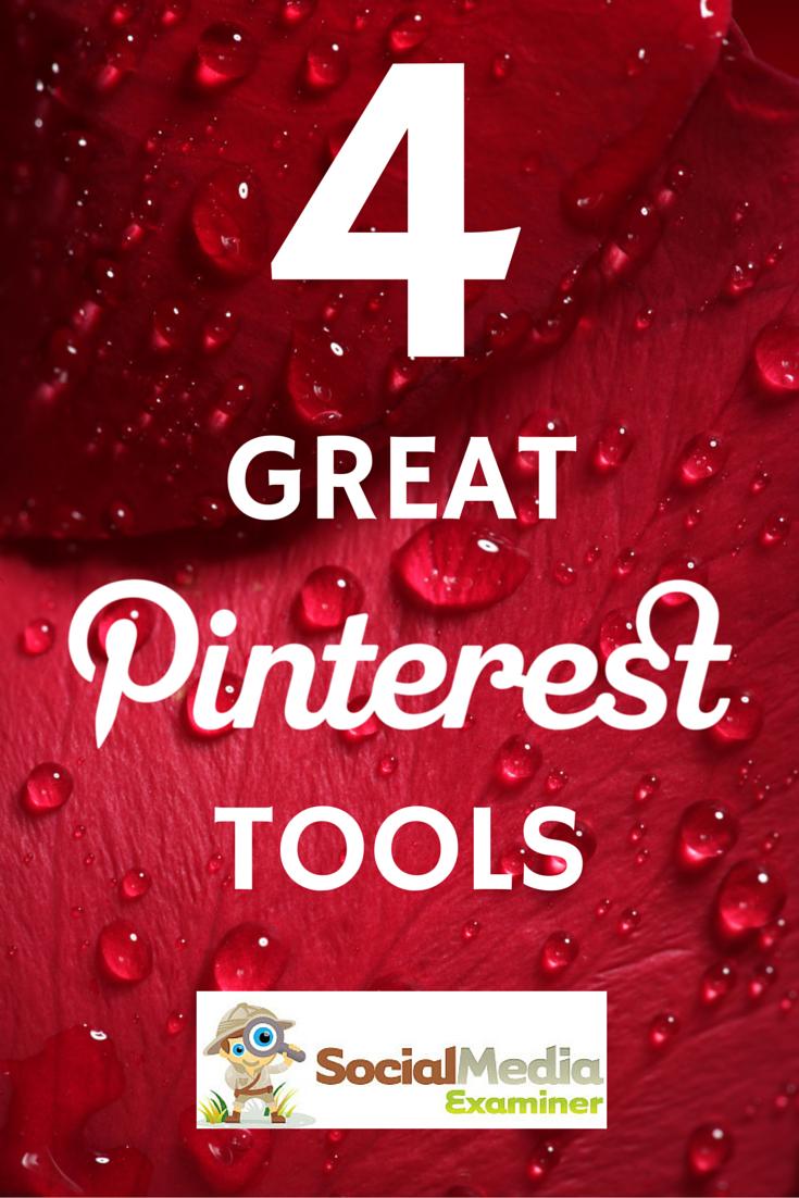 4 super outils #Pinterest (article un peu ancien, mais très  complet et détaillé )